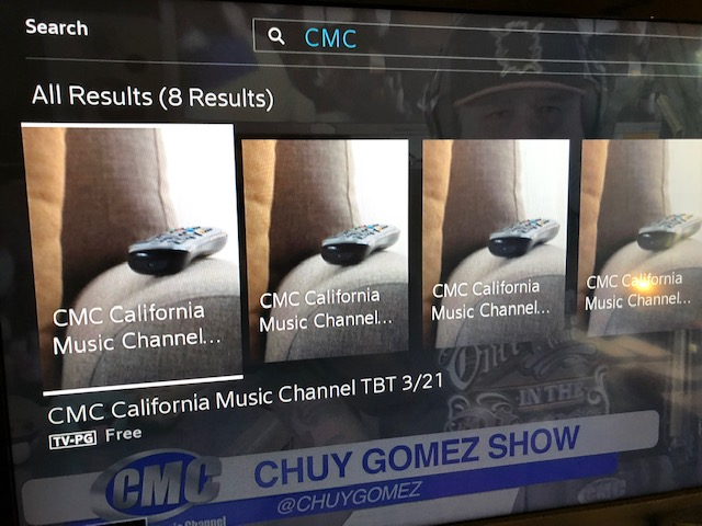 CMC California Music Channel: Cable Listings